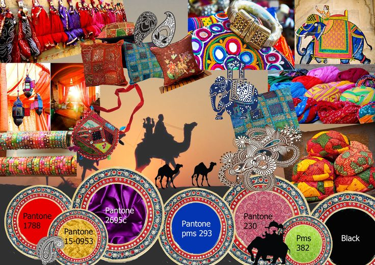 Explorers Colour board Theme: Rajasthani | Colour board ...