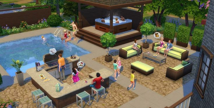 The sims 4 perfect patio stuff pack objects outdoors for Pool design sims 4