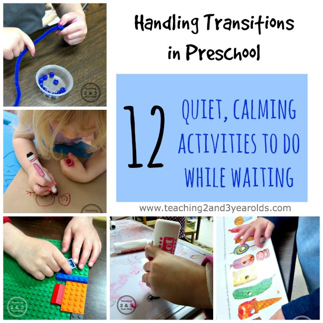 Preschool Transitions: 12 Calm Activities While Waiting from Teaching 2 and 3 Year Olds