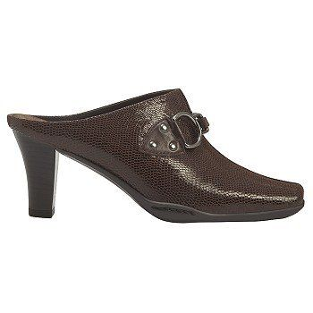 Aerosoles Cinch Worm Shoes (Dark Brown Liz) - Women's Shoes - 8.0 W