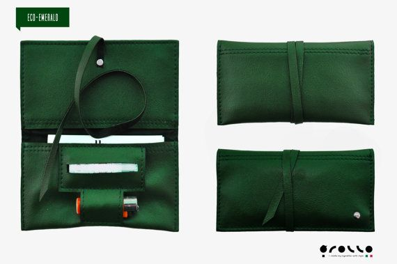 Tobacco Pouch eco-leather made in italy, pochette, vintage wallet, bag €10.00