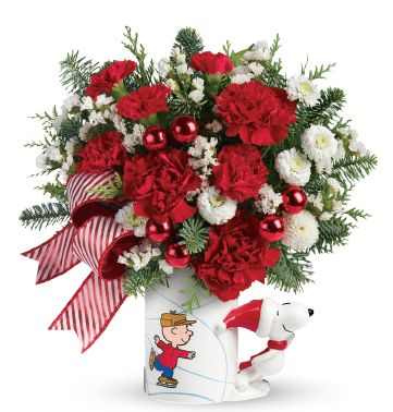 Peanuts Christmas Flowers Arrangement #sponsored review and great gift idea!