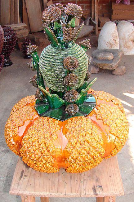 Resultado de imagen para macetas de piña artesanal purepecha