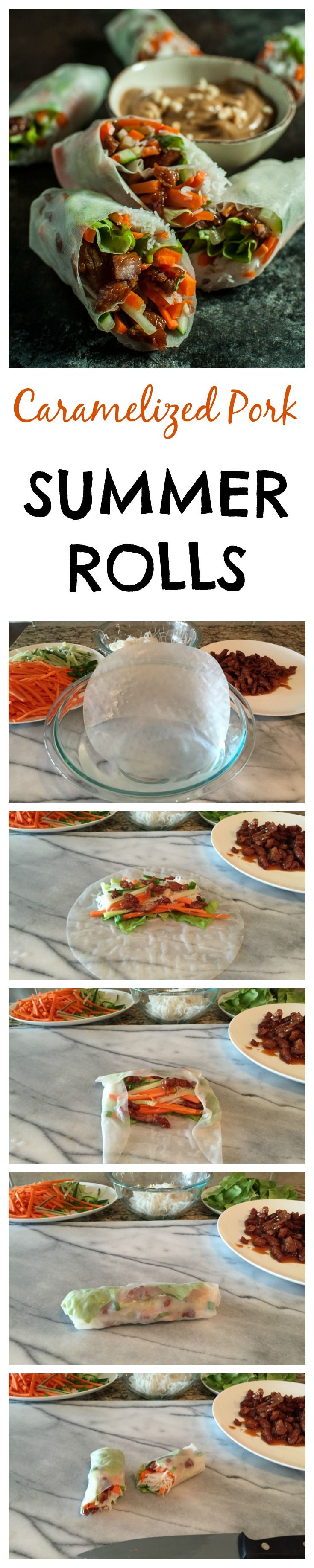 Caramelized Pork Summer Rolls | Recipe | Summer Rolls, Pork and ...