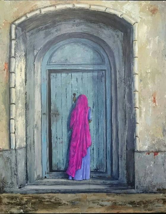 Visitor - Painting by Herma Kitching