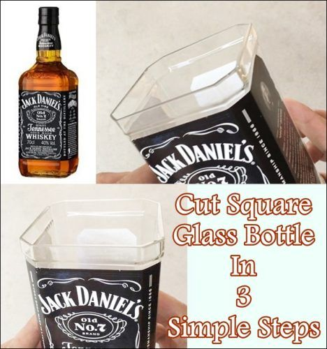 """Cut Square Glass Bottle In 3 Simple Steps Homesteading  - The Homestead Survival .Com     """"Please Share This Pin"""""""