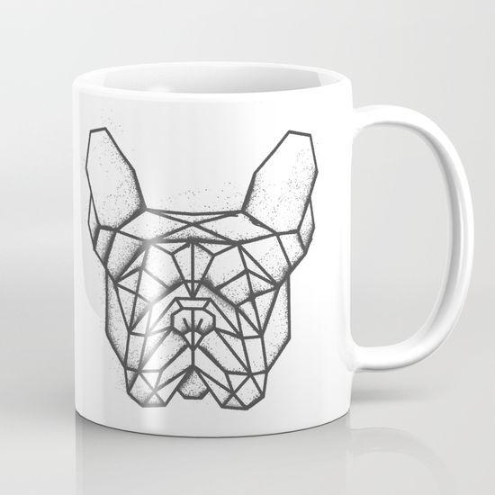 Fench Bulldog Geometric Sketch Mug. #FrenchBulldog #bulldog #Geometric