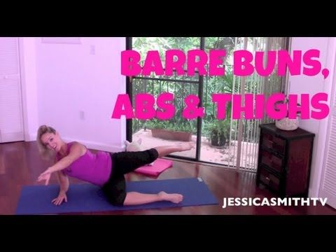 Barre Full Length Workout Video: 25-Minute Abs, Butt & Thighs Barre Workout - YouTube