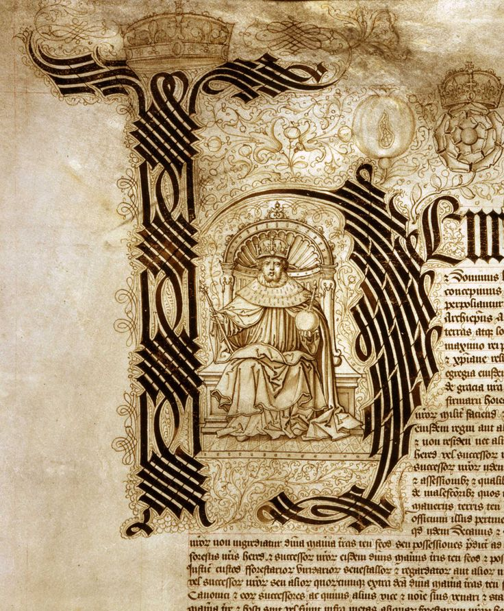 "Letter ""H"" Illuminated initial of Henry VIII, 1526"