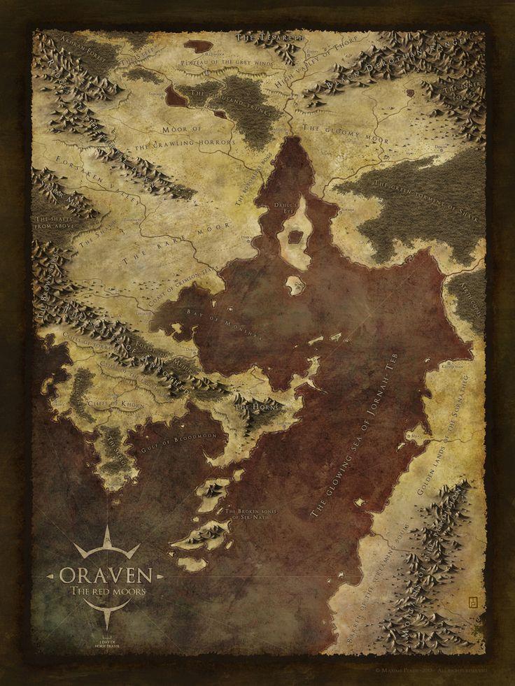 Oraven The Red Moors by MaximePLASSEdeviantartcom