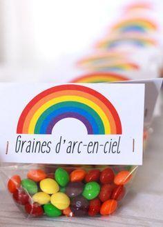 Rainbow party fête arc-en-ciel favor gift