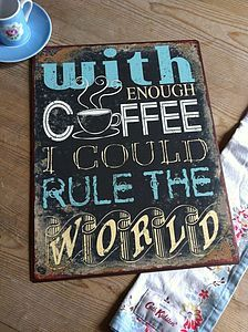 Vintage Style Coffee Sign - cafes coffee aroma ....