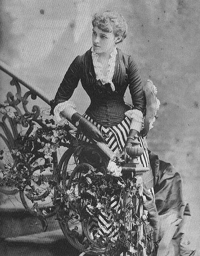Edith Wharton - 1880 - *striped fabric from handcock? Nice combo of skirt and top