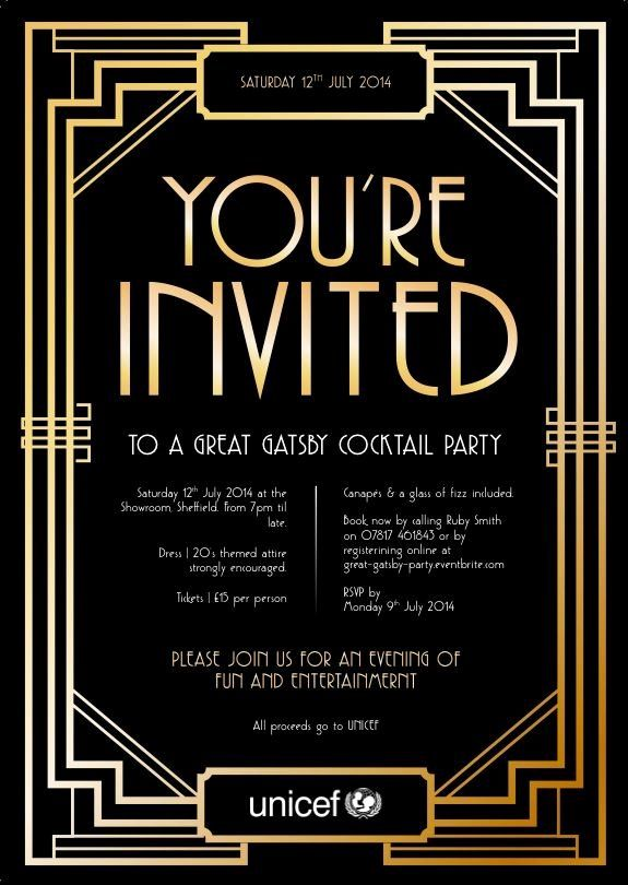 Great Gatsby Party Invitation Templates Awesome 11 Best Images About Ordination Invitati Gatsby Party Invitations Gatsby Birthday Party 1920s Party Invitations