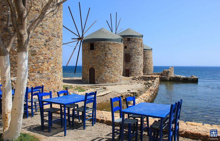 Chios Miles . Chios island
