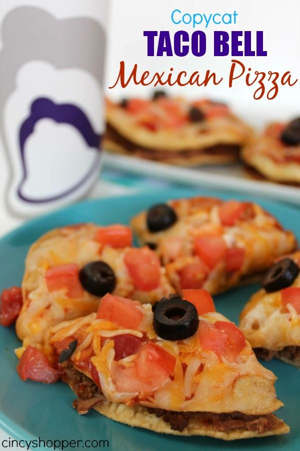 Copycat Taco Bell Mexican Pizza Recipe. One of my favorite menu items at Taco Bell. Simple to make at home and save $$'s.