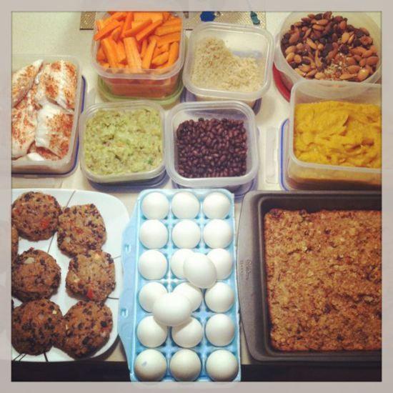 Prepare no fim de semana as refeições de segunda a sexta.