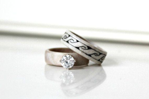 Antler Wedding Bands / Antler Wedding Ring / Nordic Wedding / Organic Wedding Rings / Sami Wedding Ring