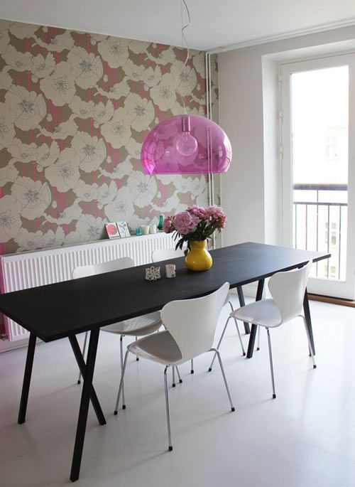 Image detail for - fly-lamp-by-kartell_dining-table-by-hay_chairs-by-arne-jacobsen1