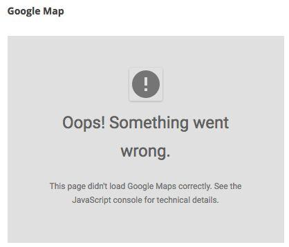Google maps API changes
