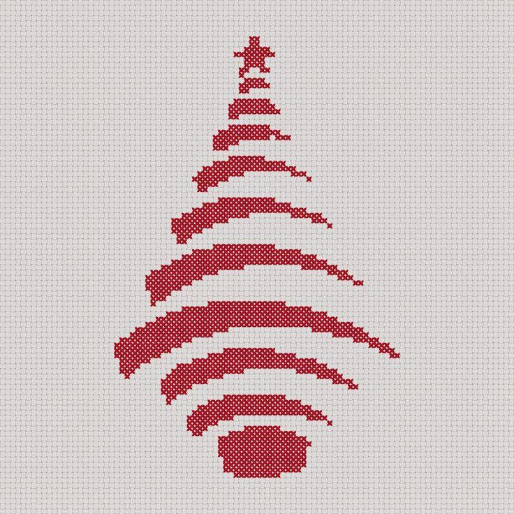 Craft with Ruth Cartwright: Free Stripe Christmas tree cross stitch PDF pattern