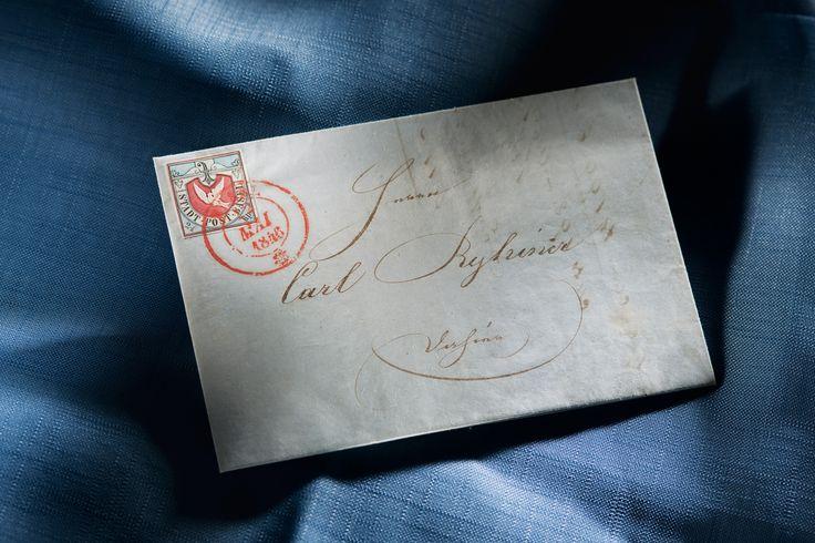 Eine Basler-Taube mit den intensiven Farbnuancen der 1. Auflage und einem markant geprägten Relief, breite weisse Ränder an allen Seiten und ideal aufgesetzter Aufgabestempel BASEL 12 MAI 1846 auf vollständigem Faltbrief an Carl Ryhner.  Dieser Brief zählt zu den schönsten bekannten Briefen mit Basler-Taube und wird auf einen Wert von 30'000 bis 40'000 Schweizer Franken geschätzt. Versteigert wird er an der Rapp-Auktion 2016 am 19. Mai.