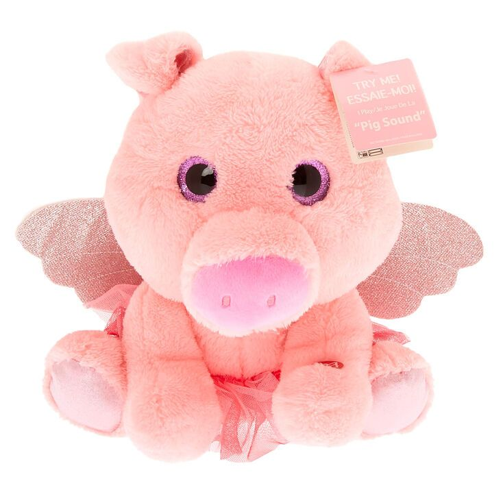 Claire S Club Oinking Pig Plush Toy Pink Girls Accessories