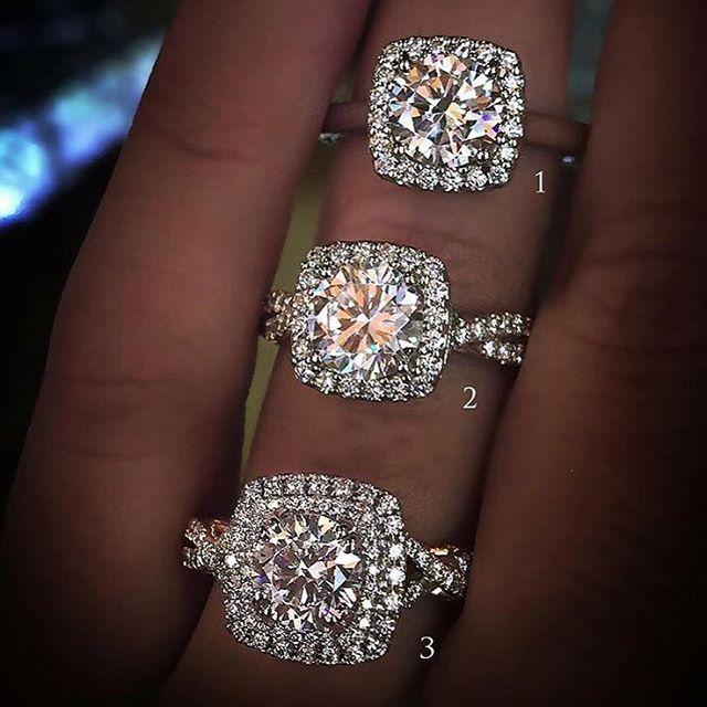 Cushion Halo Diamond Engagement Rings