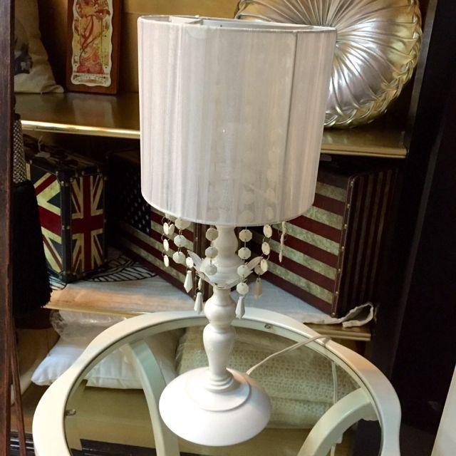 White Soft Chiffon Shade Lamp