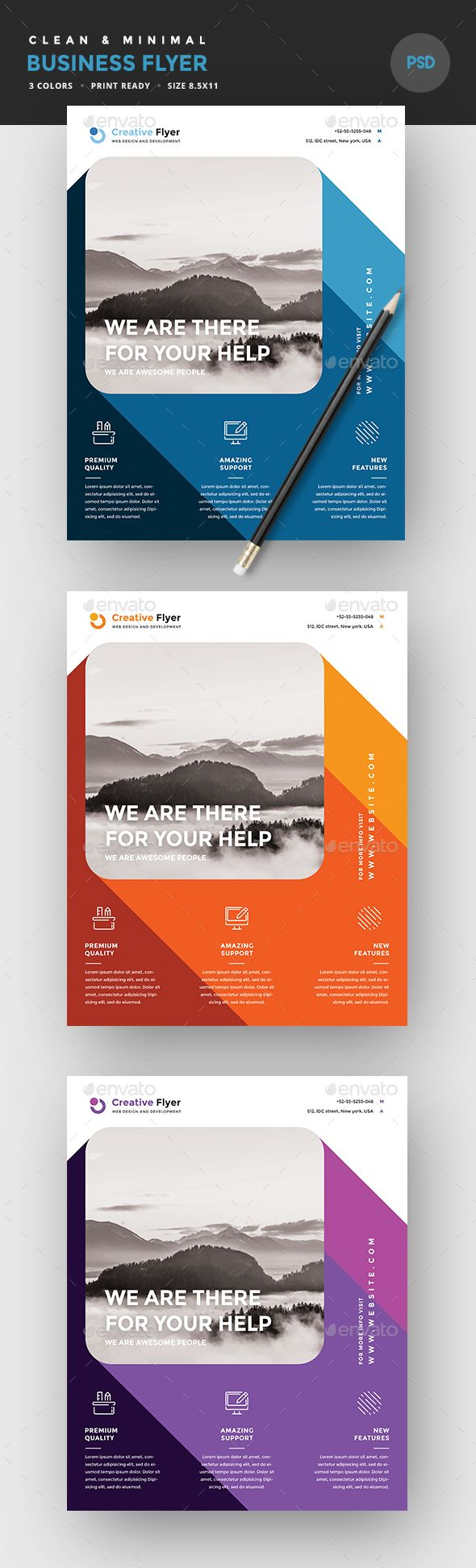 #Business #Flyer - Corporate Flyers Download here: https://graphicriver.net/item/business-flyer/19481437?ref=alena994
