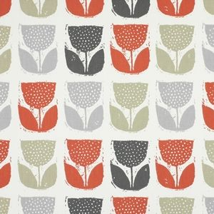 Poppy Pod Amber 100% Cotton 137cm 32cm Curtaining