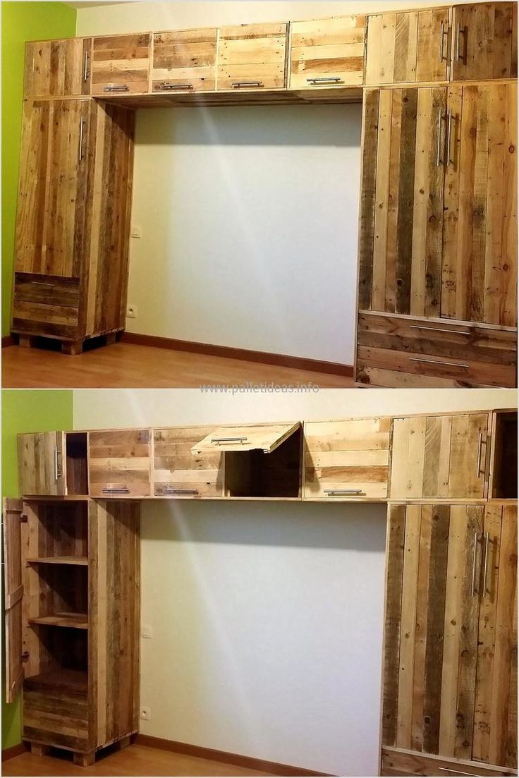 25 best ideas about pallet closet on pinterest pallet. Black Bedroom Furniture Sets. Home Design Ideas
