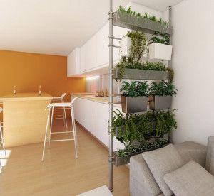 Roomdividers van planten