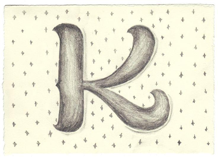 K: Lettering Inspiration, Delicious Drop, Art Lettering, Drop Caps, Alphabet Letters, Handwritten Letters