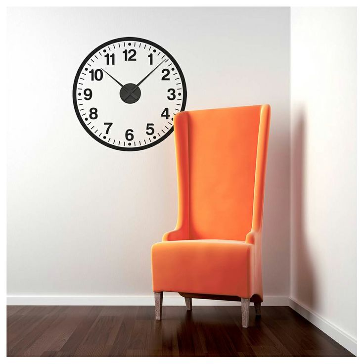 #hunkydoryhome  School Clock Wall Decal - love this!!