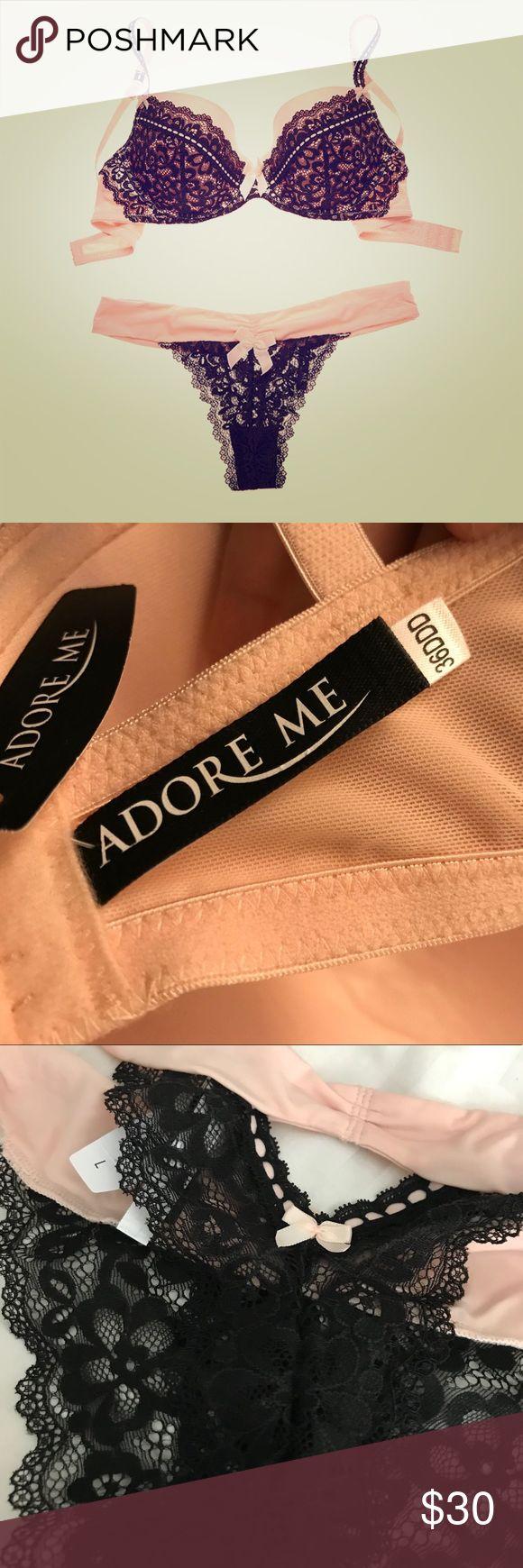 AdoreMe Alexi Matching Bra & Panty Set NWT: AdoreMe Alexsi - Matching Bra & Panty Set   Bra - 36F/DDD Panties - Large Adore Intimates & Sleepwear Bras