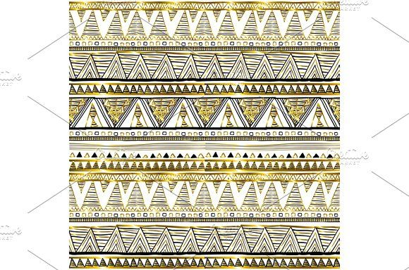 patterns Ethnic seamless vector by Rommeo79 on @creativemarket