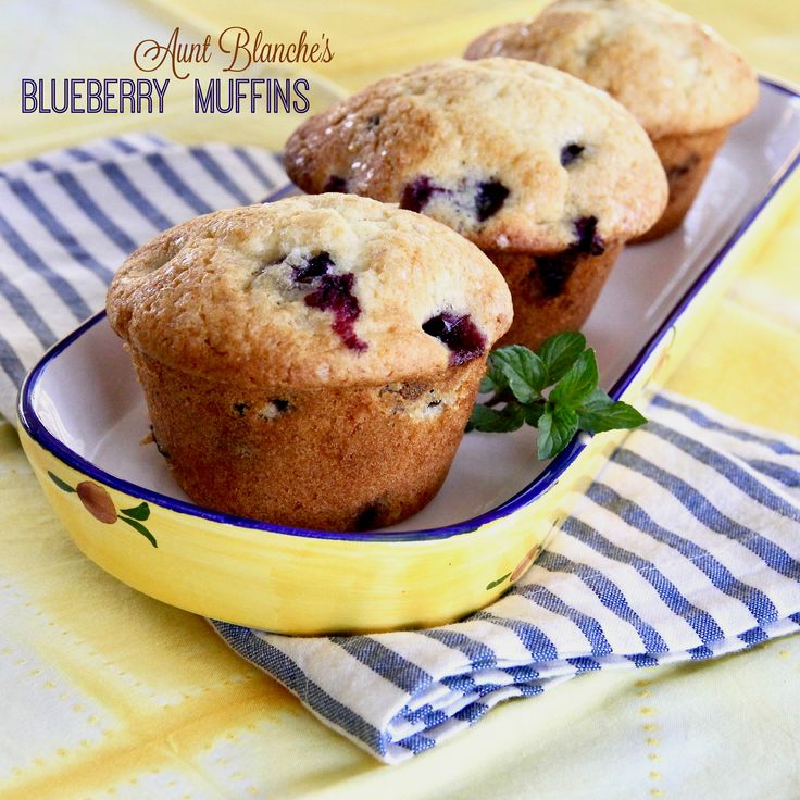 Aunt Blanche's Blueberry Muffins will not disappoint you, they are delicious!  #MyAllrecipes #AllrecipesAllstars #BlueberryMuffins #QuickAndEasy #breakfast #brunch #muffins #blueberries