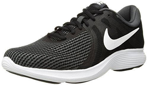 6faf543a8 Nike Womens Revolution 4 Running Shoe Black White-Anthracite 8 Regular US