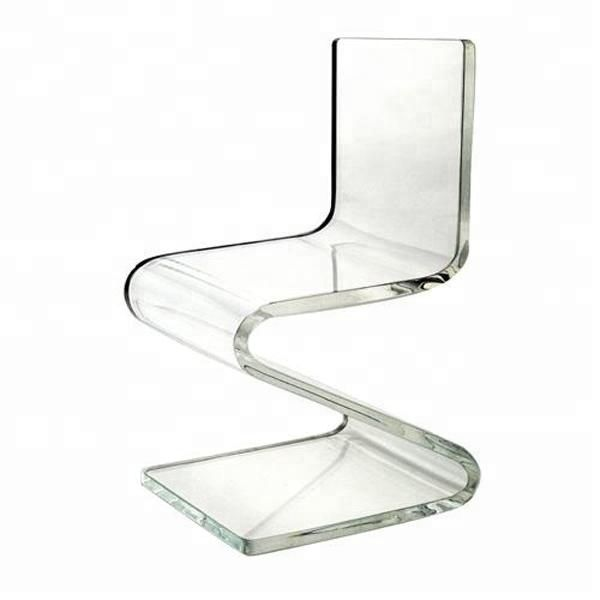 Acrylic Transparent Z Shape Chair For Dining Chair Find Complete