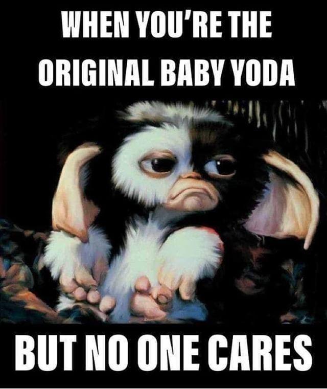Poor Baby Yoda Randomretro Gremlins Gizmo Babyyoda Starwars 80scomedy Classiccomedy Retrocomedy Comedym Marvel Funny Classic Comedies Comedy Movies