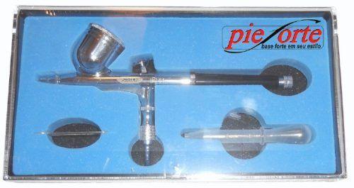 aerógrafo profissional copo fixo / dupla ação 0,2mm - steula