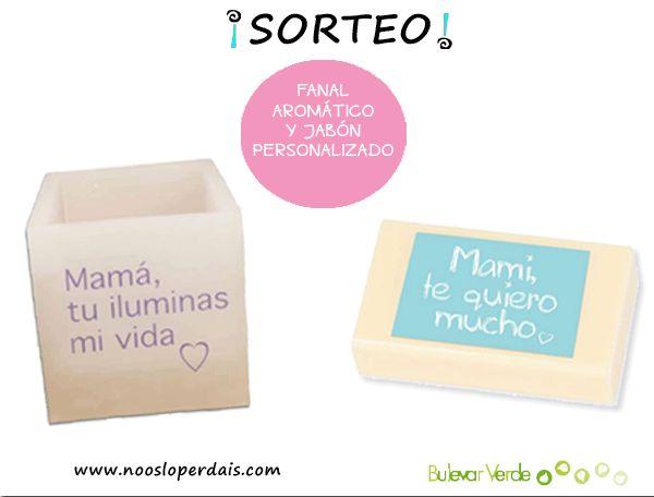 """Sorteo de un fanal aromático y un jabón personalizado especial """"Día de la Madre"""" de Bulevar Verde. Participar desde aquí: http://noosloperdais.com/2015/04/14/sorteo-fanal-y-jabon-personalizado-dia-de-la-madre-de-bulevar-verde/"""