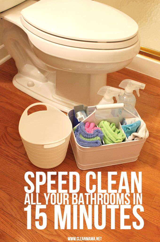 Whip through all your bathrooms in 15 minutes flat with these great directions from Clean Mama