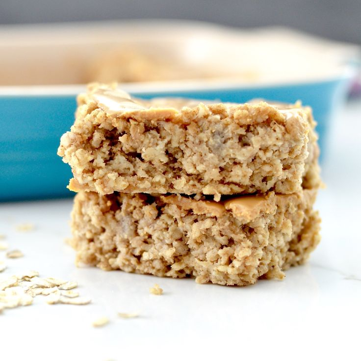 Healthy peanut butter breakfast bar. Sounds amazing can't wait to try it!