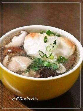 焼き餅入り✿鶏と椎茸のとろみスープ by みどふぁどベシ [クックパッド ...