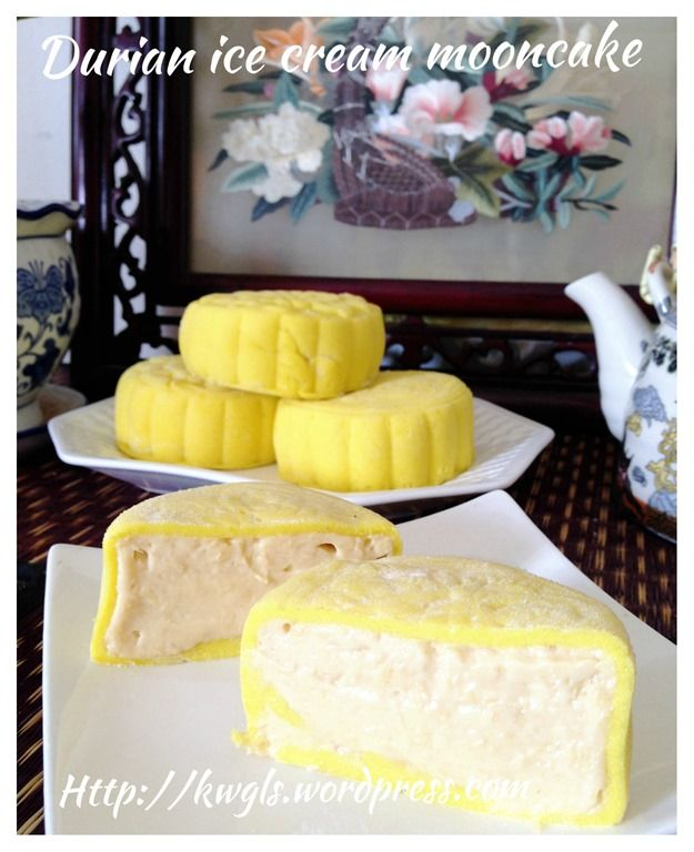 Asian cakes made with durian paste