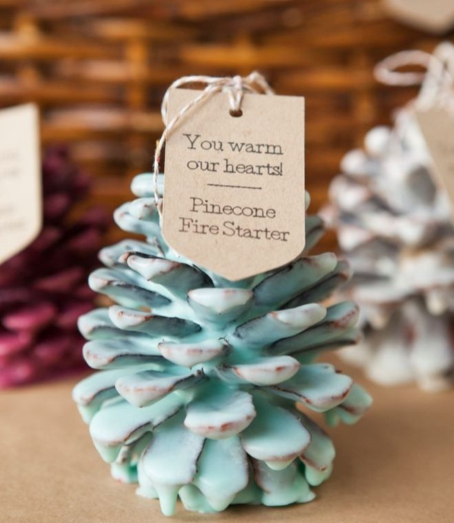 Love this idea for DIY favors for a fall or winter wedding. They'd also be great party favors or gifts for friends and neighbors for Thanksgiving or winter holidays. If you don't have a Cricut to make your tags, try Avery Printable Tags (41556) and personalize and print them yourself.