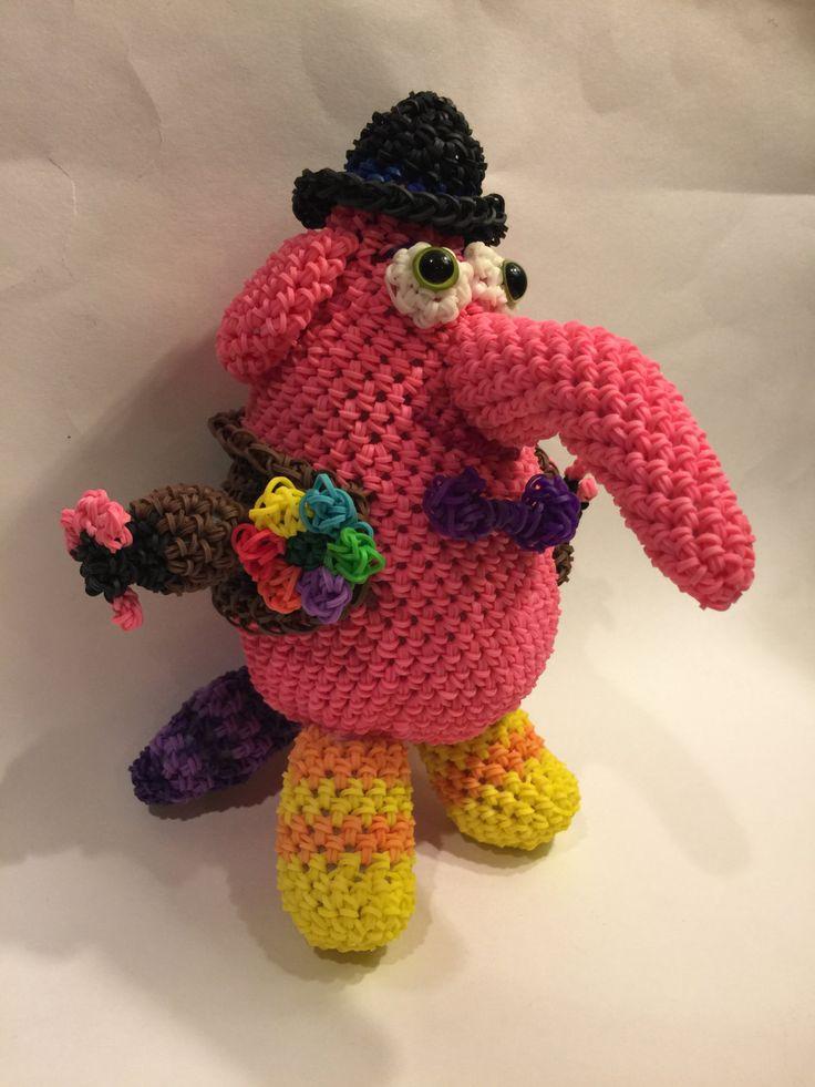 Disney's Inside Out Bing Bong Rubber Band Figures by BBLNCreations on Etsy  Loomigurumi Amigurumi Rainbow Loom