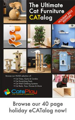 Realistic Cat Trees with Leaves | CatsPlay.com Cat Furniture
